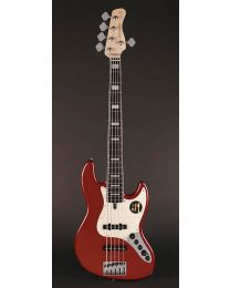 Sire Marcus Miller V7 2nd Gen Series Alder 5-String Bass Guitar Bright Metallic Red V7+ A5/BMR