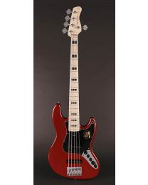 Sire Marcus Miller V7 Vintage 2nd Gen Series Alder 5-String Bass Guitar Bright Metallic Red V7V+ A5/BMR