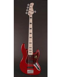 Sire Marcus Miller V7 Vintage 2nd Gen Series Swamp Ash 5-String Bass Guitar Bright Metallic Red V7V+ S5/BMR