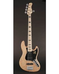 Sire Marcus Miller V7 Vintage 2nd Gen Series Swamp Ash 5-string Bass Guitar Natural V7V+ S5/NT