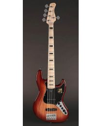 Sire Marcus V7 Vintage 2nd Gen Series Swamp Ssh 5-String Bass Guitar Tobacco Sunburst V7V+ S5/TS