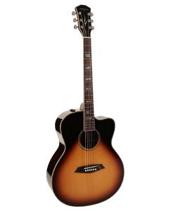 Sire Acoustics A7 Series All Solid Acoustic Grand Auditorium Guitar with SIB Electronics and Cutaway A7GSVS Sunburst