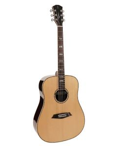 Sire R7 Series All Solid Acoustic Dreadnought Guitar with Zebra 7 Electronics Natural R7DZNT