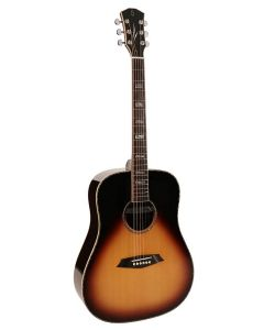 Sire R7 Series All Solid Acoustic Dreadnought Guitar with Zebra 7 Electronics Sunburst R7DZVS