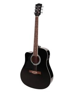 Richwood Artist Series Left handed Acoustic Guitar RD-12LCEBK Black