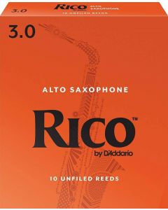 D'Addario Woodwinds Alto Sax Reeds, Strength 3, 10-Pack RJA1030