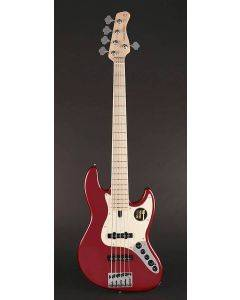 Sire Marcus Miller V7 2nd Gen Series Swamp Ash 5-String Bass Guitar Bright Metallic Red V7+ S5/BMR