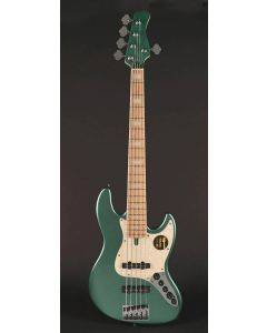 Sire Marcus Miller V7 2nd Gen Series Swamp Ash 5-String Bass Guitar Sherwood Green Metallic V7+ S5/SGM