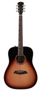 Sire A4 Series Larry Carlton Top and Back Solid Acoustic Dreadnought Guitar (Roasted Top) with SIB Electronics, A4DSVS - Sunburst