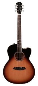 Sire A4 Series Larry Carlton Top and Back Solid Acoustic Grand Auditorium Guitar (Roasted Top) with SIB Electronics, A4GSVS - Sunburst