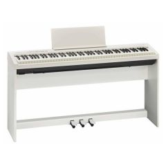 Roland Digital Piano with Stand and Pedals, FP30SETWH, White