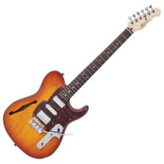 Fret King Black Label Country Squire Semitone De Luxe Electric Guitar Honeyburst FKV22HB