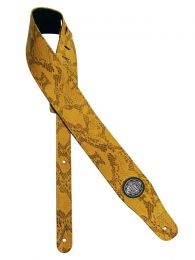 Gaucho Faux Snakeskin Guitar Strap, Yellow