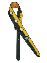 Gaucho Guitar Strap, Black & Yellow with Stars