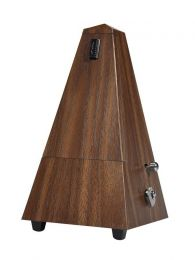 Boston Mechanical Metronome with bell Pyramid model, Wood Grain