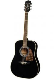Richwood RD-16 Solid Top Acoustic Guitar - Black Finish