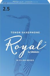 Rico Royal Tenor Sax Reeds, Strength 2.5, 10-pack by D'Addario