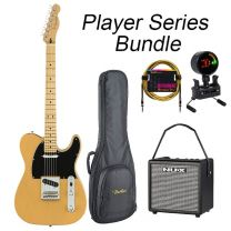 Fender Player Series Tele Electric Guitar MN BUNDLE with BAG, AMP, TUNER & LEAD. Butterscotch Blonde