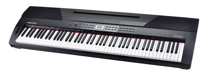 Medeli Semi-Weighted 88 key SP3000 Digital Piano with Spring Action Keys